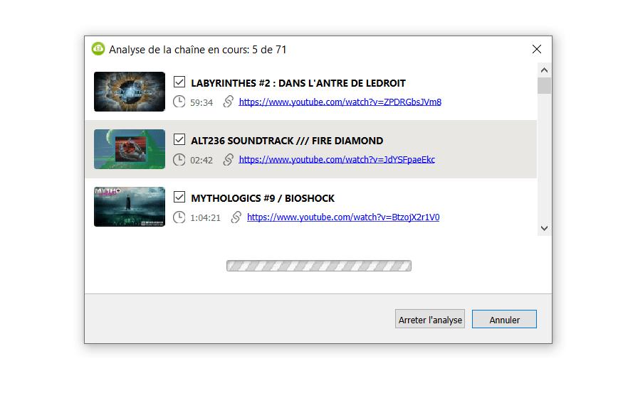 4K vidéo downloader analyse chaîne Youtube