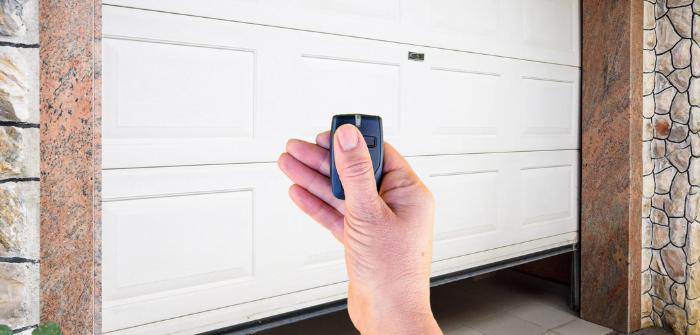 porte de garage motorisé avec télécommande