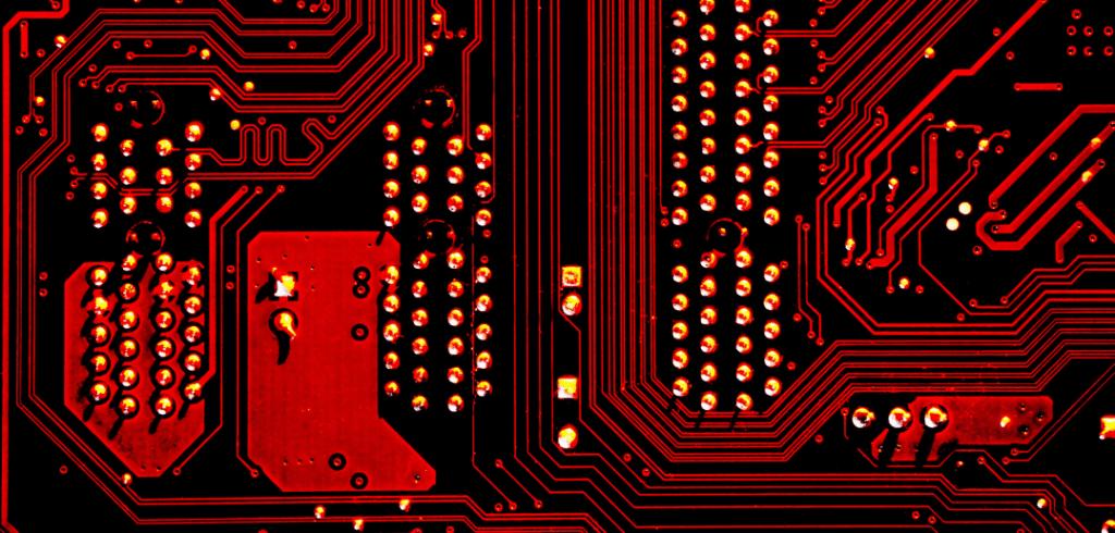 circuit imprimé sur une carte mère