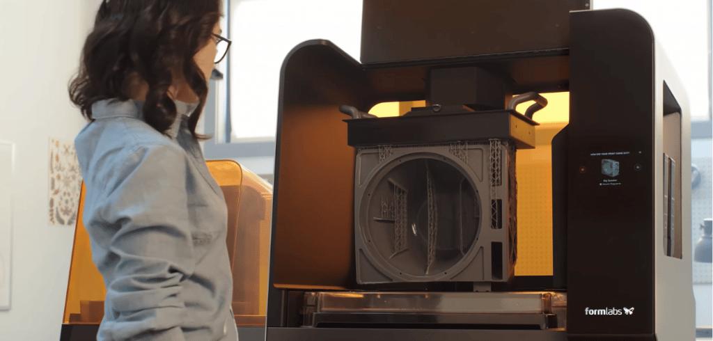 capture d'écran de la vidéo de présentation l'imprimante form 3 de formlabs