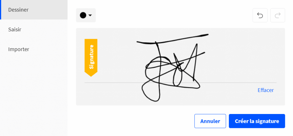 Signature sur Smallpdf