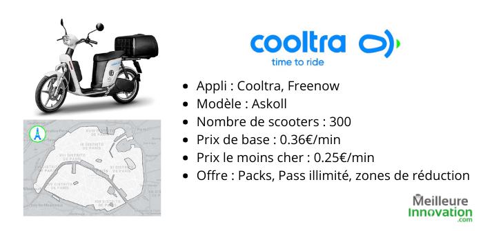 Cooltra offre et caractéristiques location scooter électrique