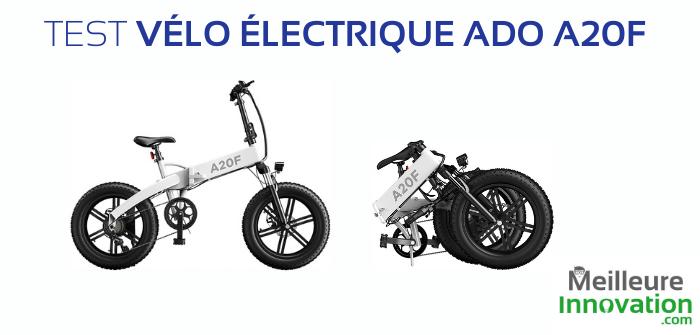 Test du vélo électrique ADO A20F : une version améliorée du A20 ?