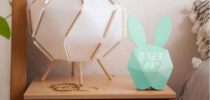 réveil connecté pour enfant lapin