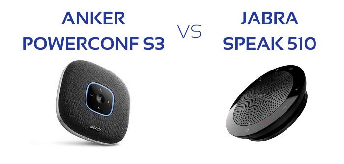 Haut-parleur de conférence : Anker Powerconf S3 VS Jabra Speak 510