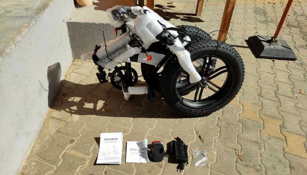 unboxing du vélo électrique ADO A20 F
