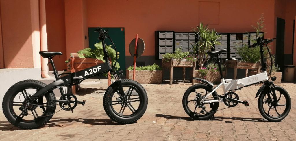 photo du vélo électrique A20 F avec le ADO A20