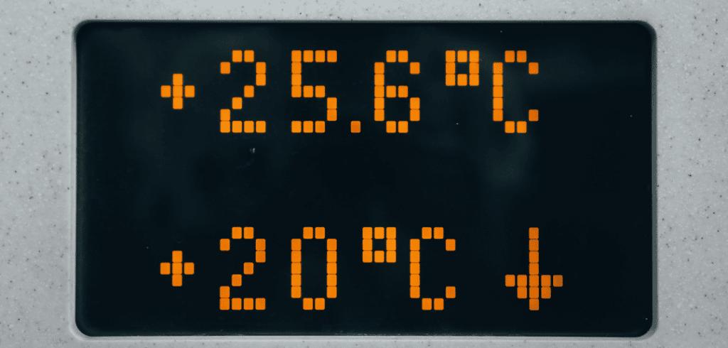 affichage de température