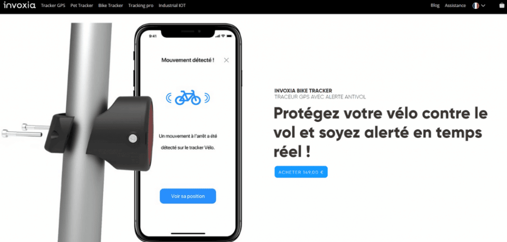 Invoxia traceur GPS vélo