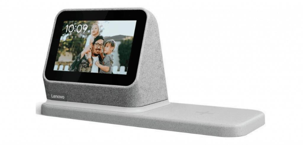 réveil connecté avec station de recharge sans fil lenovo smart clock 2