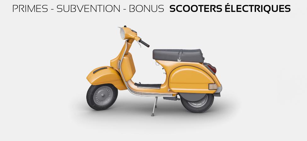 Scooters électriques bonus subvention