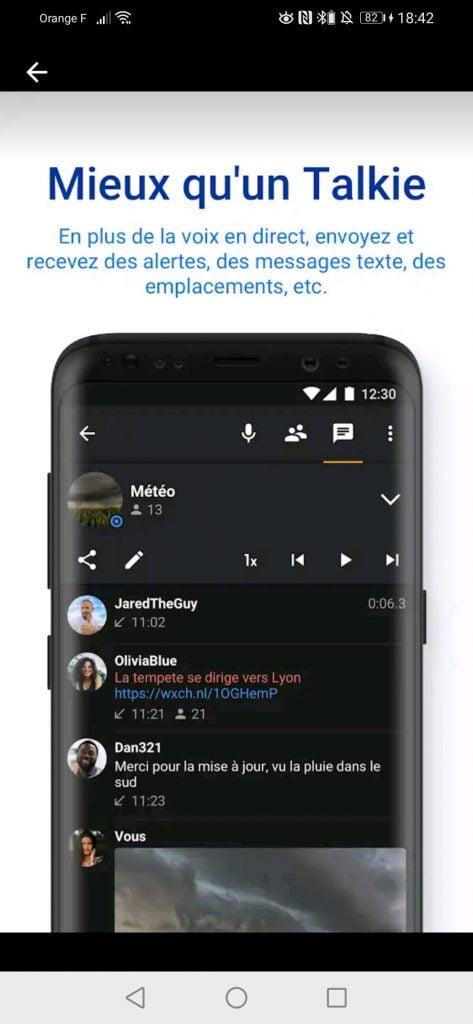 application talkie walkie