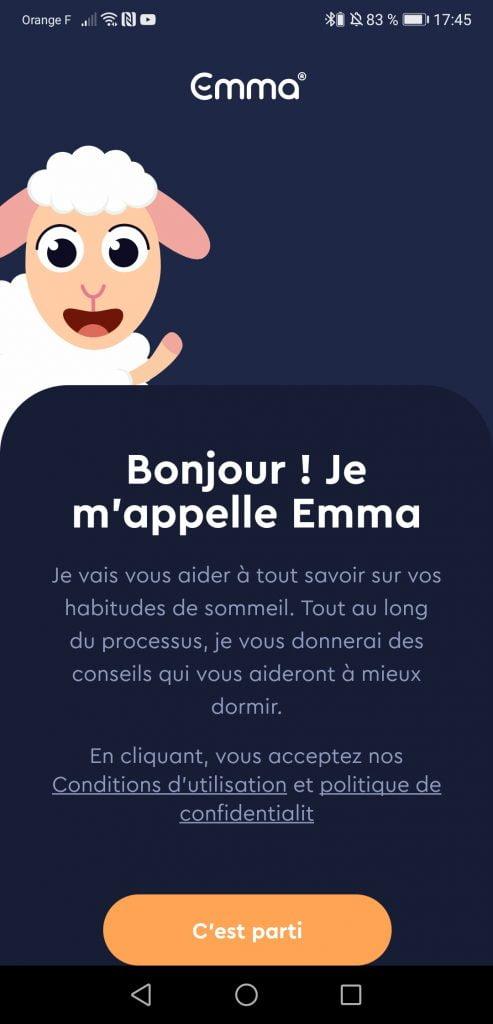 Application Emma Sleep