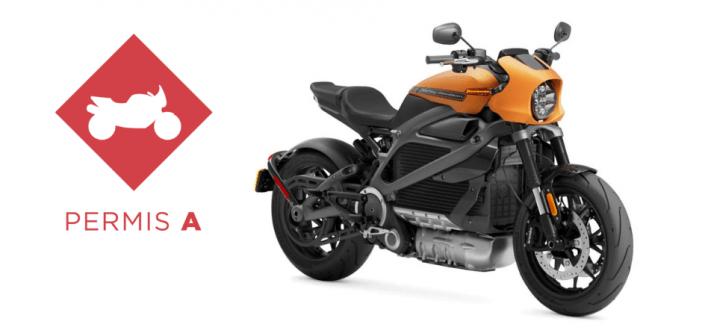 Gros cubes Harley-Davidson LiveWire permis A obligatoire