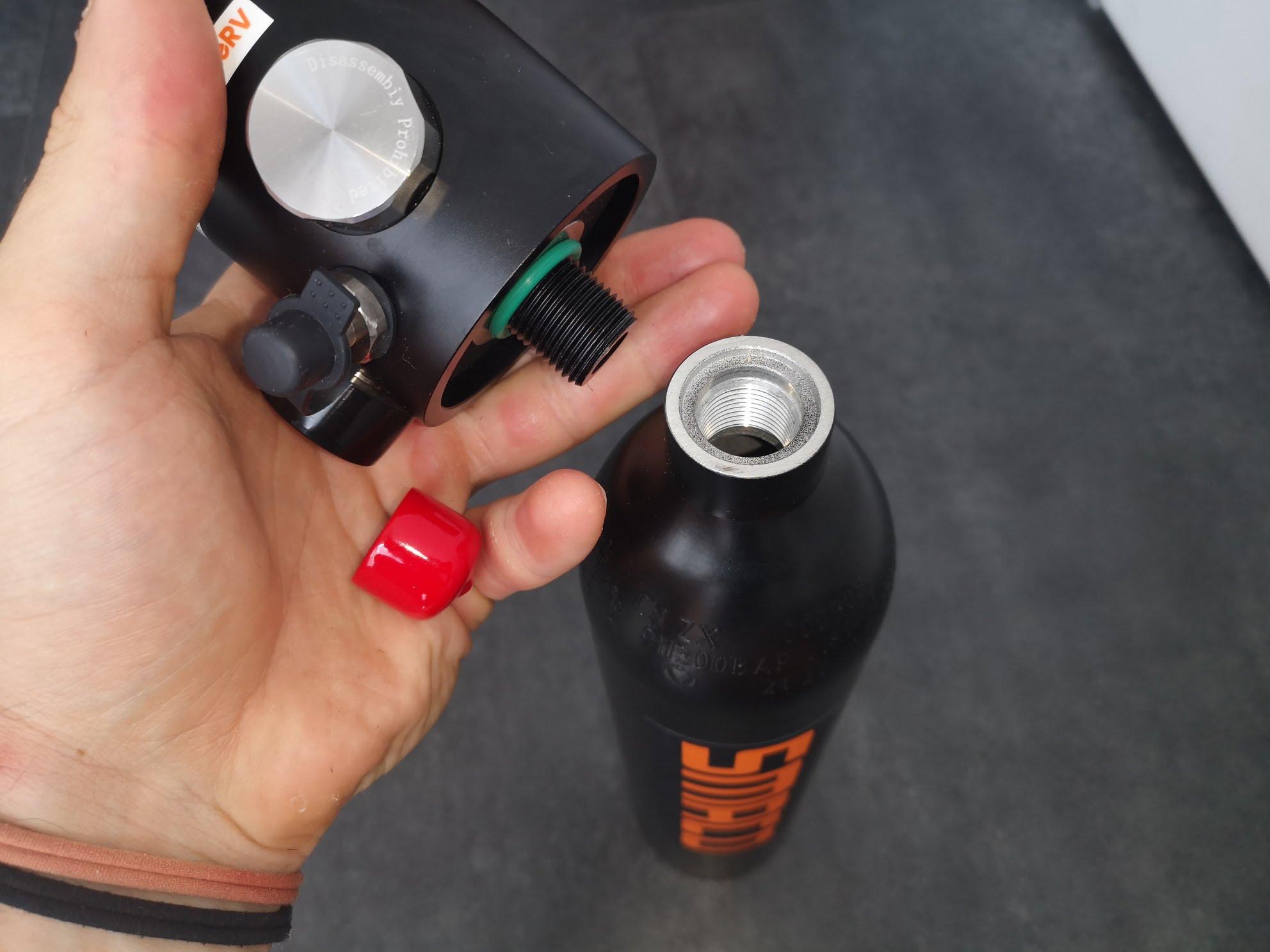 Indicateur de pression test mini-bouteille de plongée S300 +