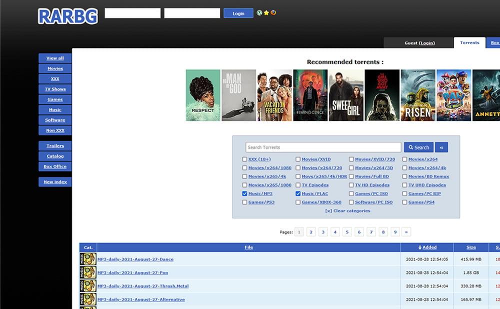 RARBG adresse officielle site miroirs torrents