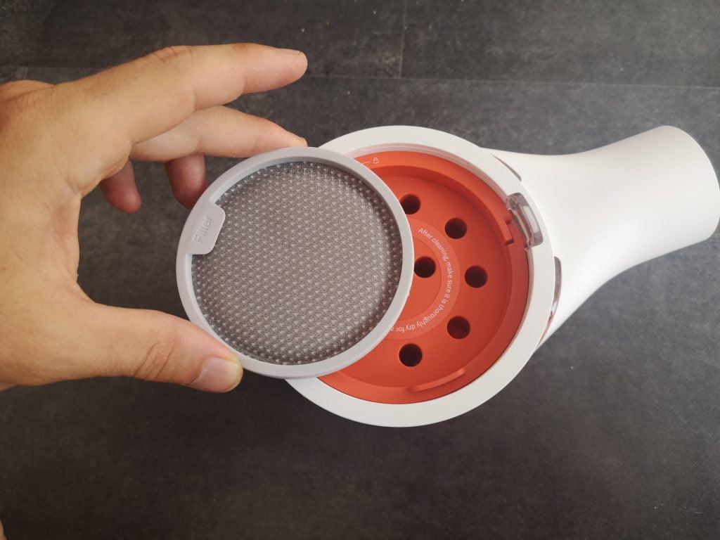 Retirer filtre aspirateur balai sans fil