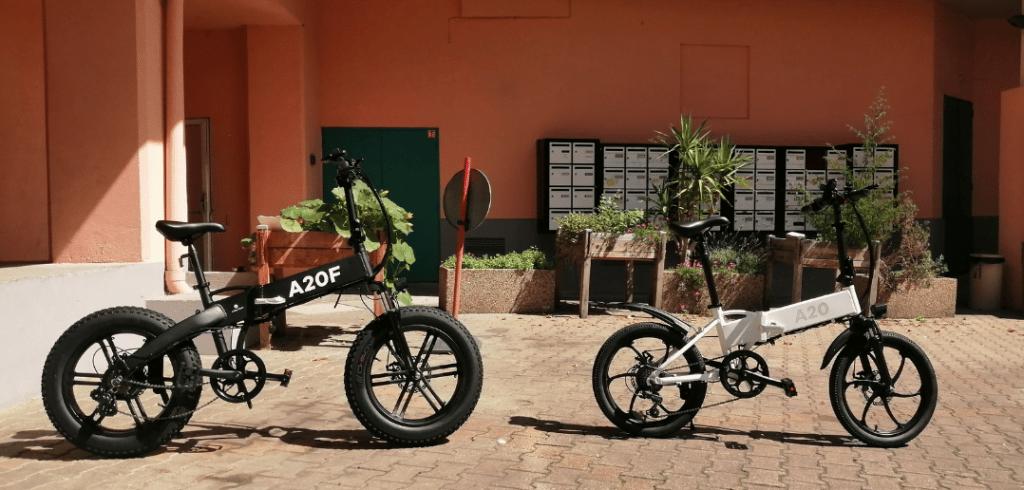 vélos électriques pliables ado a20 & a20 f