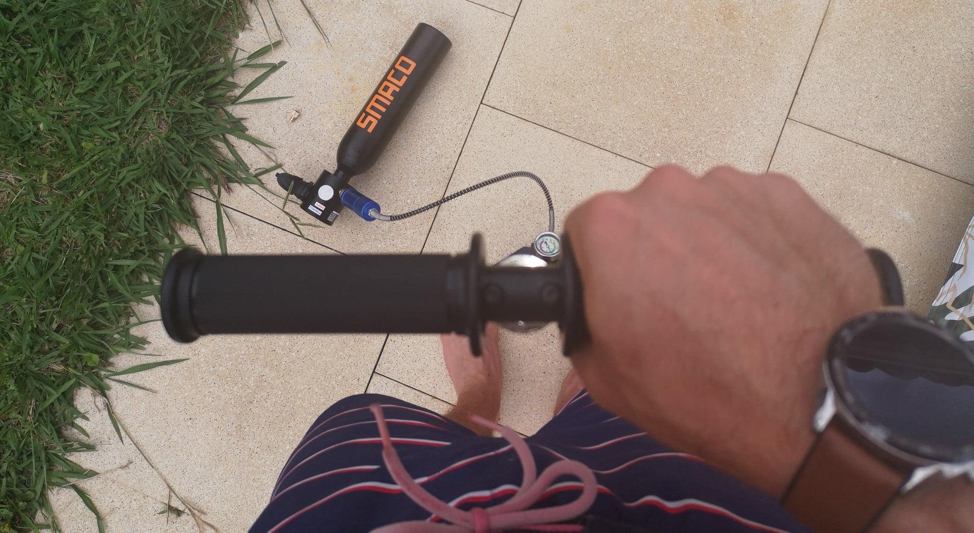 Utiliser pompe à air Smaco