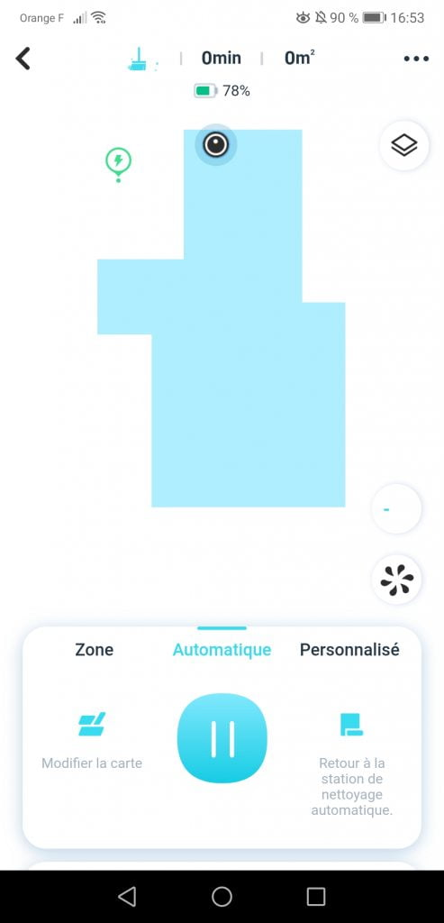 Cartographie application Yeedi