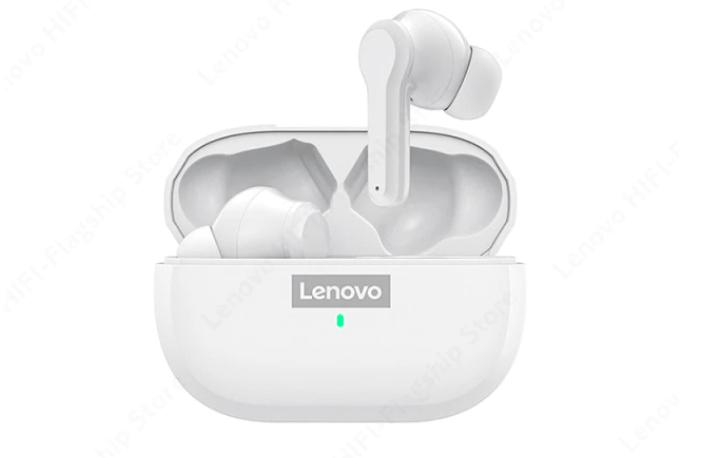 Ecouteurs intra-auriculaires Lenovo LP2S dans leur boîte