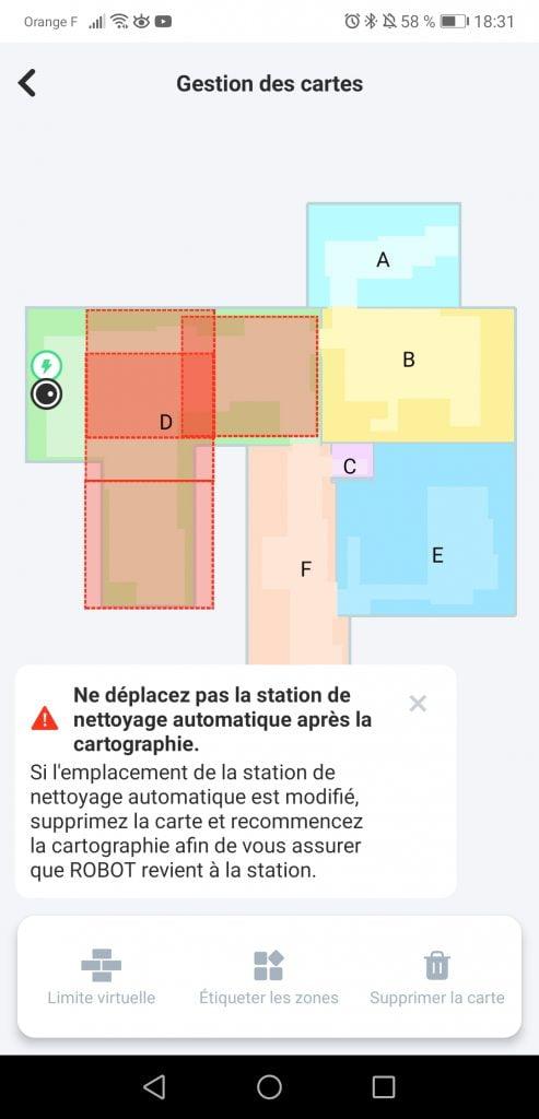 Modifier la carte Robot Yeedi Mop Station