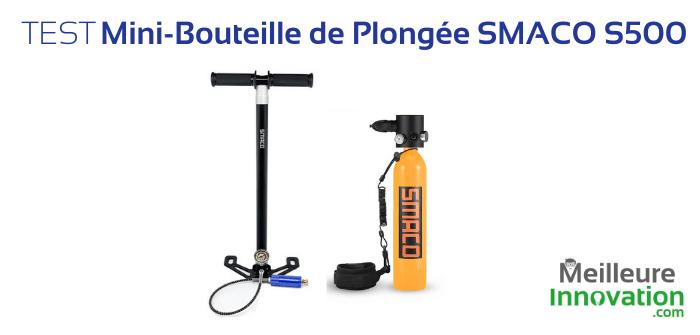 Test Smaco S500 : la mini-bouteille de plongée facile à transporter