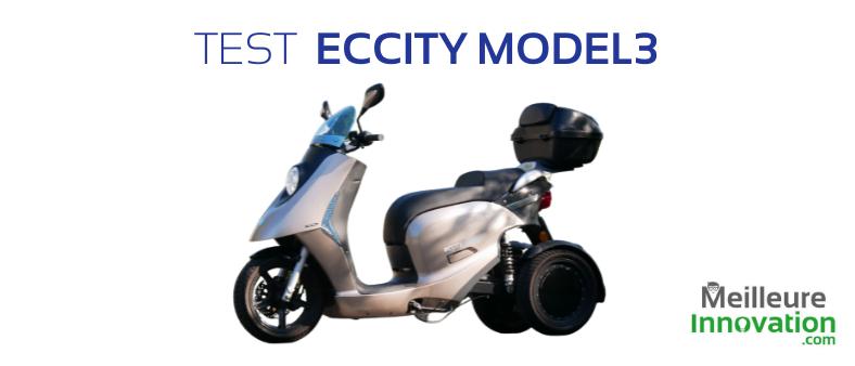 Test eccity model3 : un scooter trois roues électrique qui en a dans le ventre