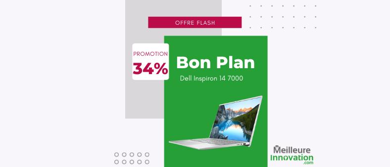 Bon plan PC portable : Dell Inspiron 14 7000 en promo à 854 € au lieu de 1299 € (-34 %)