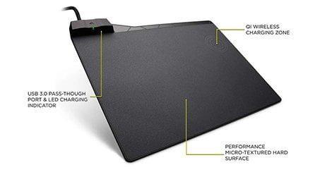 Corsair MM1000 Tapis de Souris Gaming Recharge sans fil Qi