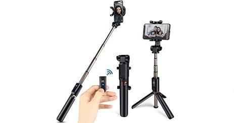 HOMVILLA meilleure Perche Selfie Trepied pas cher Telecommande