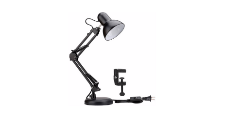 Lighting EVER Lampe de Bureau Industrielle Socle Solide orientable