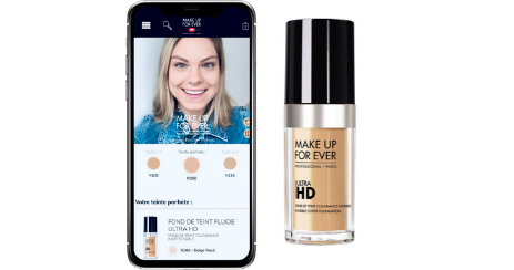 MAKE UP FOR EVER SHADE FINDER outil AI