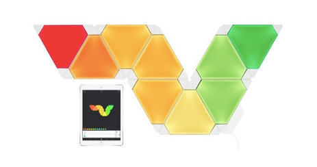 Nanoleaf Light Panels Rhythm Kit 9 LED modulee LEDs innovants