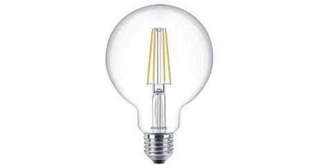 Philips Classic LED globe E27 G93 7W 827 lampe led pas cher faible consommation