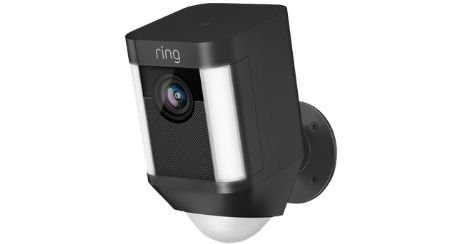 Ring camera avec ou sans fil complete lampe sirene