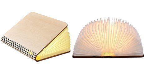 Lampe Livre Pliante Led book light bois design idee cadeau