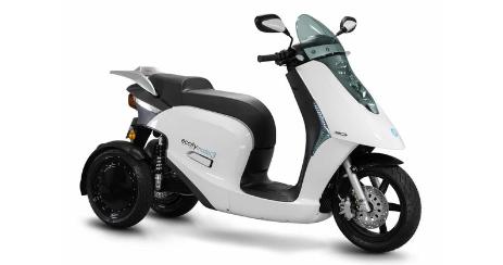 eccity model 3 scooter électrique 125 deux roues arrières