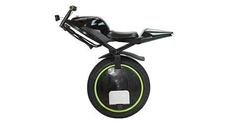 gyroroue moto rover electrique noir vert