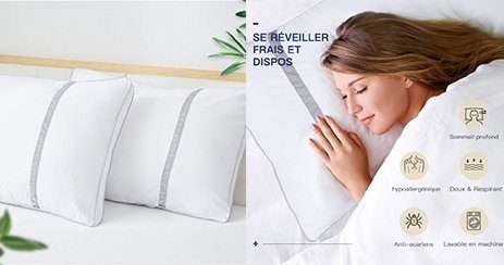 meilleurs oreillers moelleux ferme