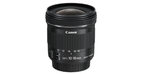 objectif photo Canon 10-18mm f_4.5-5.6