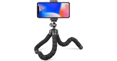 trépied smartphone flexible