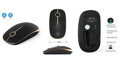 souris pc Jelly Comb 2.4G noir bureautique