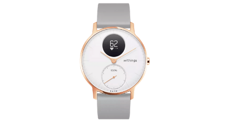 withings steel hr femme or doree gris connectee montre